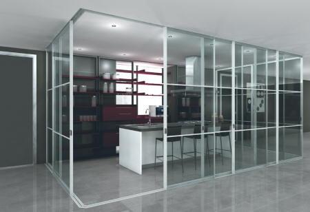 Cortina cristal asturias cortina cortinas cristal - Cocina con pared de cristal ...